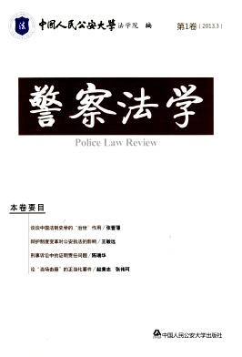 警察法学杂志